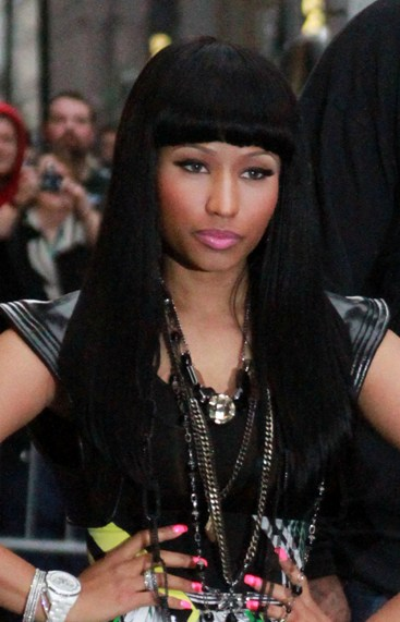 nicki minaj black hair